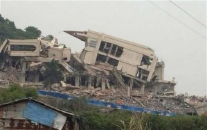 the demolished Sanjiang church